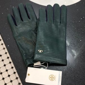 NWT Tory Burch Leather Gloves.